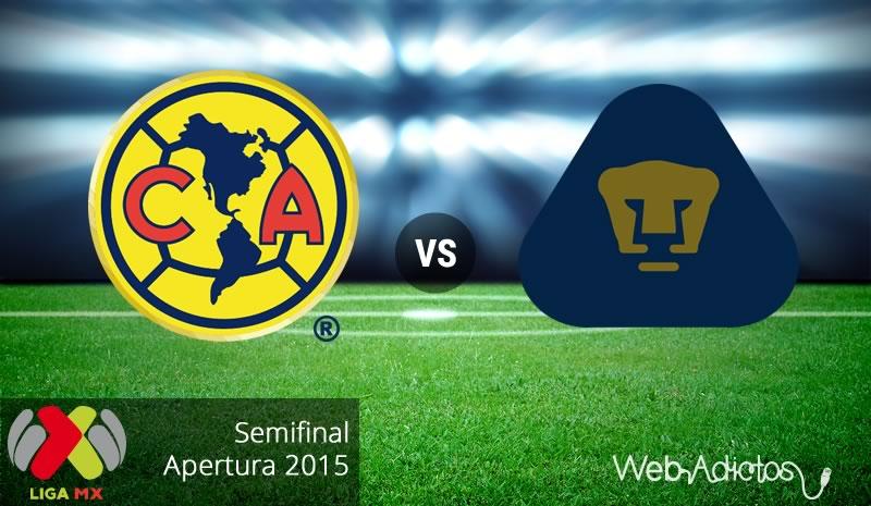 América vs Pumas, Semifinal del Apertura 2015   Partido de ida - america-vs-pumas-semifinal-apertura-2015