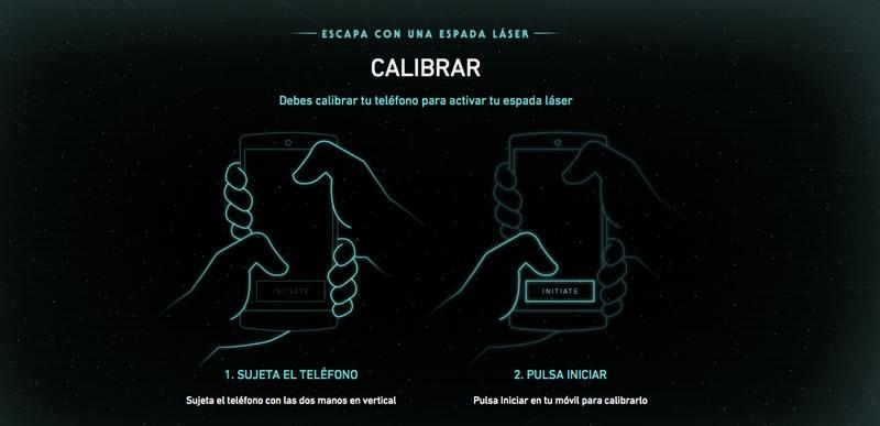 Convierte tu smartphone en un sable láser de Star Wars con este juego de Google - espada-laser-google