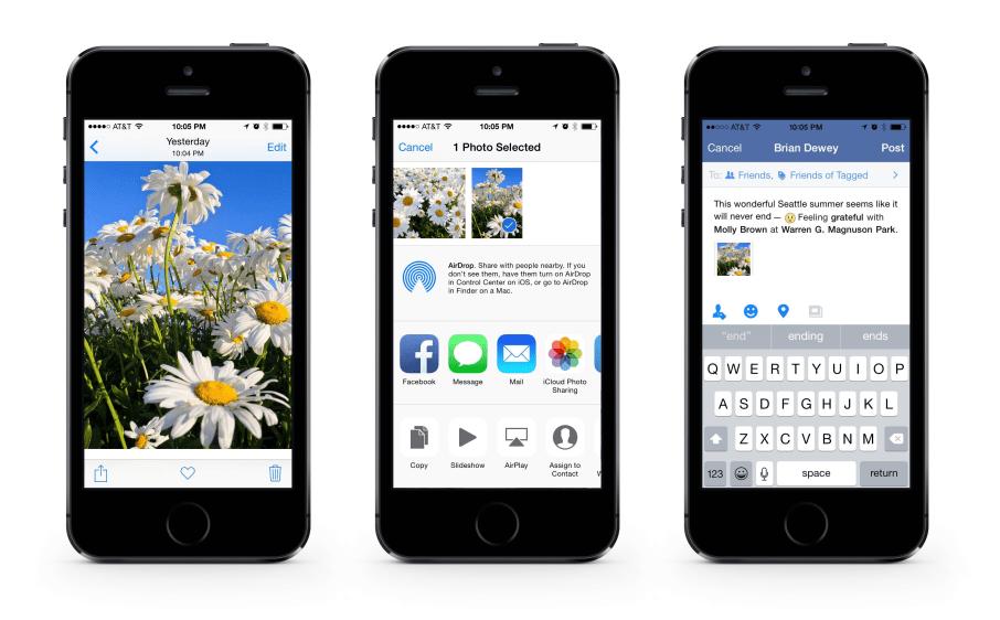 ios 8 update Facebook para iOS agrega la función de Live Photos