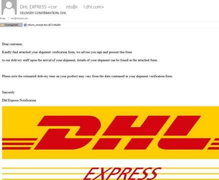 Alertan por correos phishing durante la Navidad - phishing-dhl-navidad
