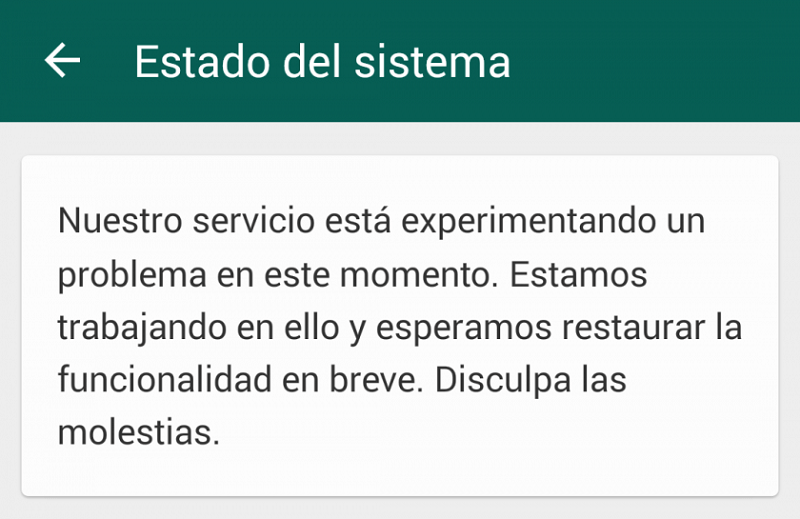 whatsapp caida 2015 800x519 Caída de WhatsApp afecta a usuarios antes de Año Nuevo
