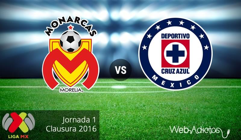 Morelia vs Cruz Azul en el Clausura 2016   Jornada 1 - monarcas-morelia-vs-cruz-azul-clausura-2016