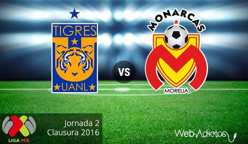 Tigres vs Morelia, Fecha 2 del Clausura 2016 - tigres-vs-morelia-clausura-2016