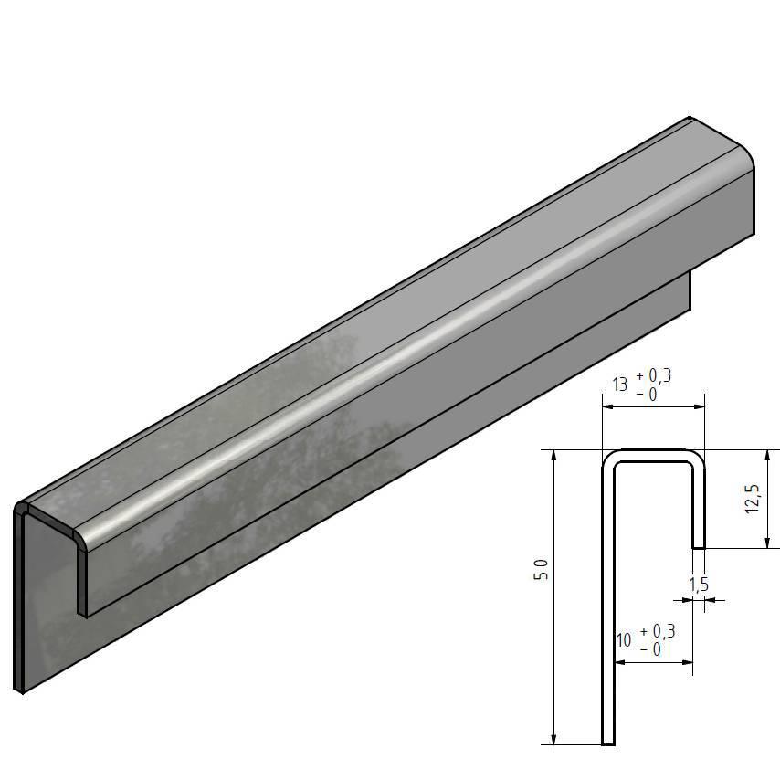 profile de encadrement inox profil en u acier inoxydable jusqu a l 2500mm de verre de 8mm a 10mm acheter a versandmetall
