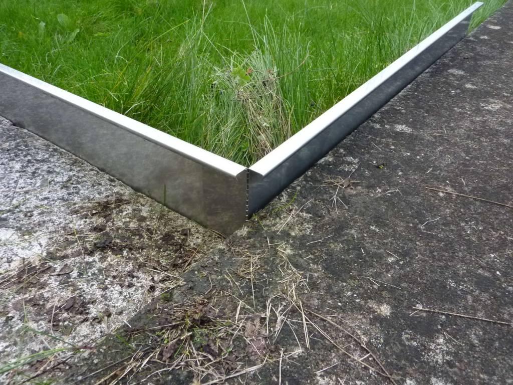 bordure de pelouse robustes rails de gravier en acier inoxydable 130 200mm de haut b 20mm de large