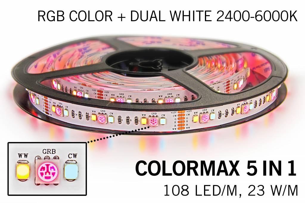 Mi·Light RGB & Dual White Colormax 5 in 1 Led Strip   108 Leds pm 5m