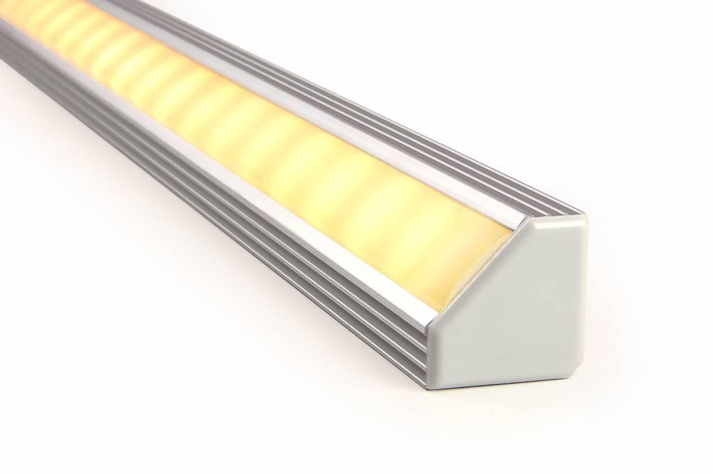 LED strip hoekprofiel 45 graden 2 meter, type 1919 incl. mist cover