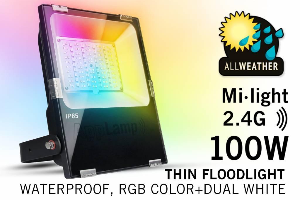 Mi·Light Mi·light 100W RGBWW Kleur+Dual Wit schijnwerper