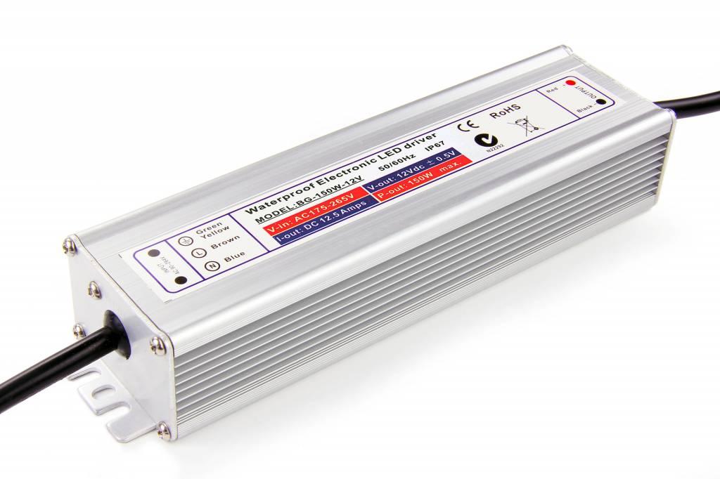 Waterdichte Schakelende Voeding IP67 DC 12 Volt 150 Watt 12,5 Ampère