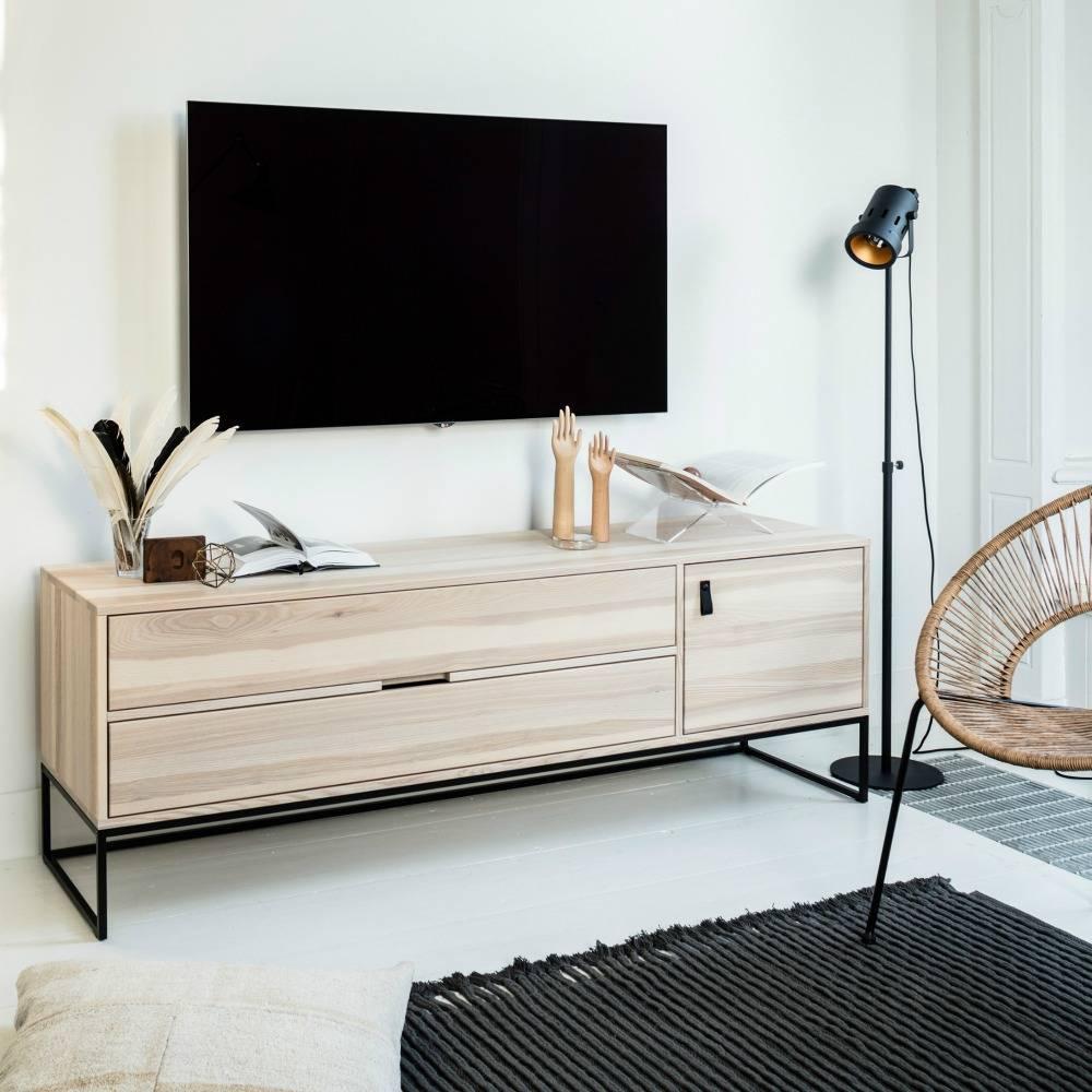 woood silas meuble tv cendre brosse sydney