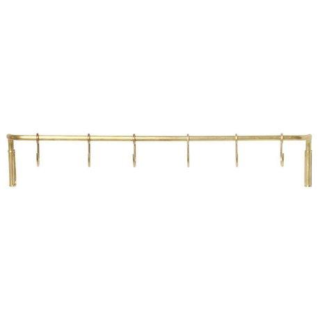 ferm living etagere de cuisine en laiton dore acier 55 3x6 15x9 65