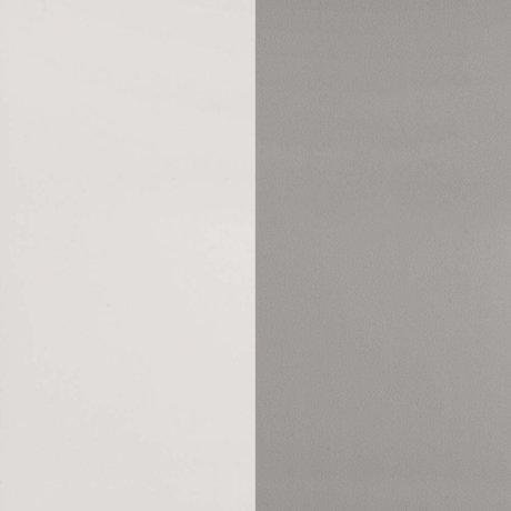 ferm living papier peint thick lines gris papier blanc casse 53x1000cm