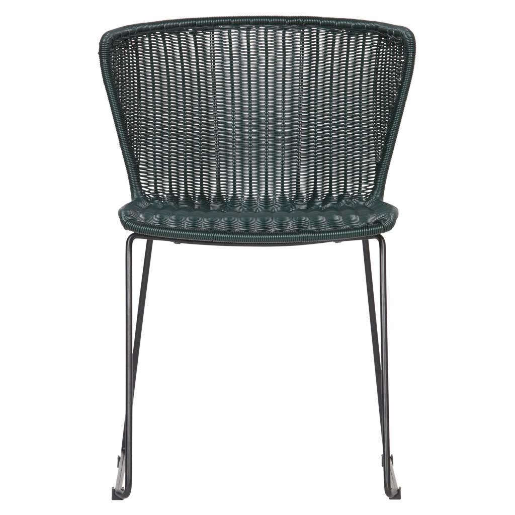 lef collections aile de chaise jardin vert bouteille ensemble de 2 54 5x54x77 5cm