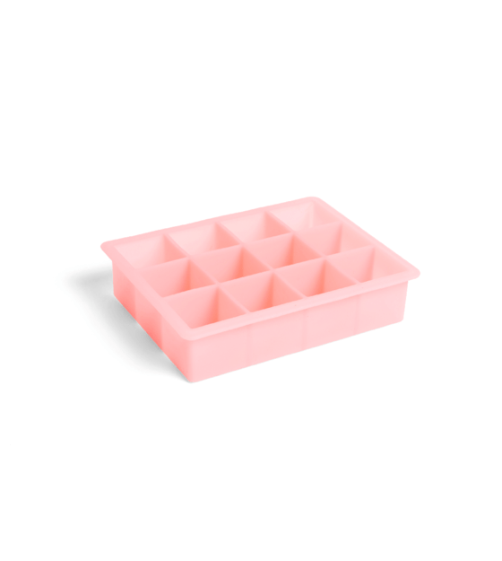 hay moule a glacons carre 12 cubes silicone rose 18x14x4cm