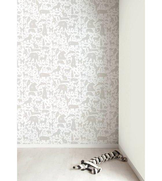 kek amsterdam alphabet des animaux papier peint gris blanc 8 3 mx47 5cm 4m