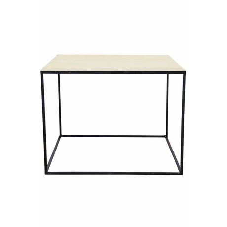 housedoctor table basse en metal noir cuivre 60x60x45cm