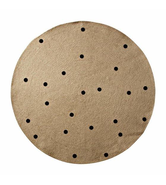 ferm living tapis dots a o100cm naturel noir