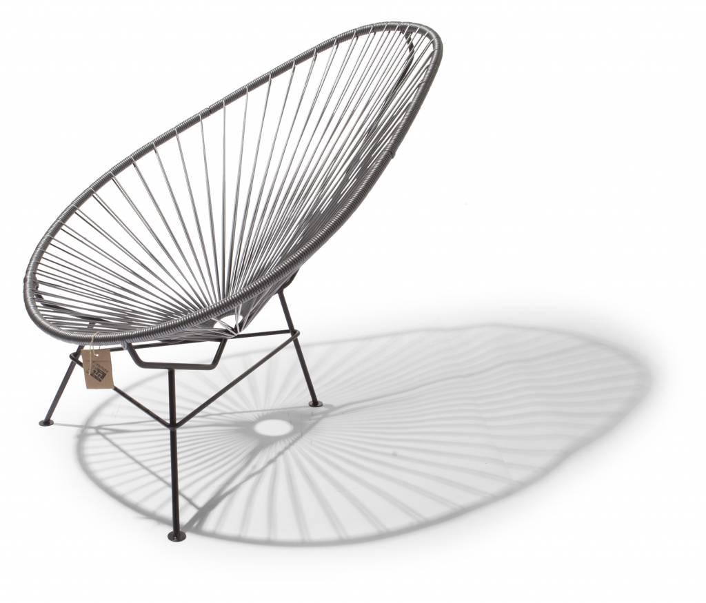 fauteuil acapulco argent grise faite a la main au mexique