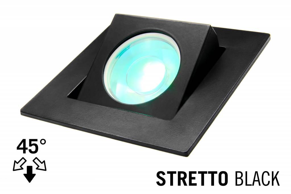 led recessed lighting trim stretto gu10 fixture black square tiltable 37