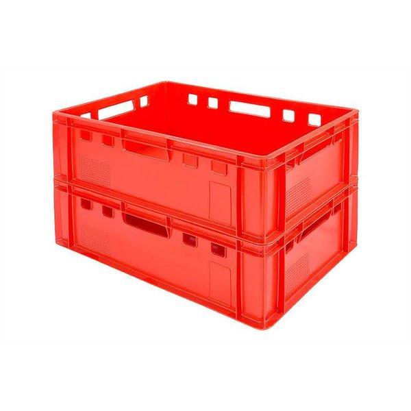 bac en plastique alimentaire a viandes norme europe 600x400x200mm empilable