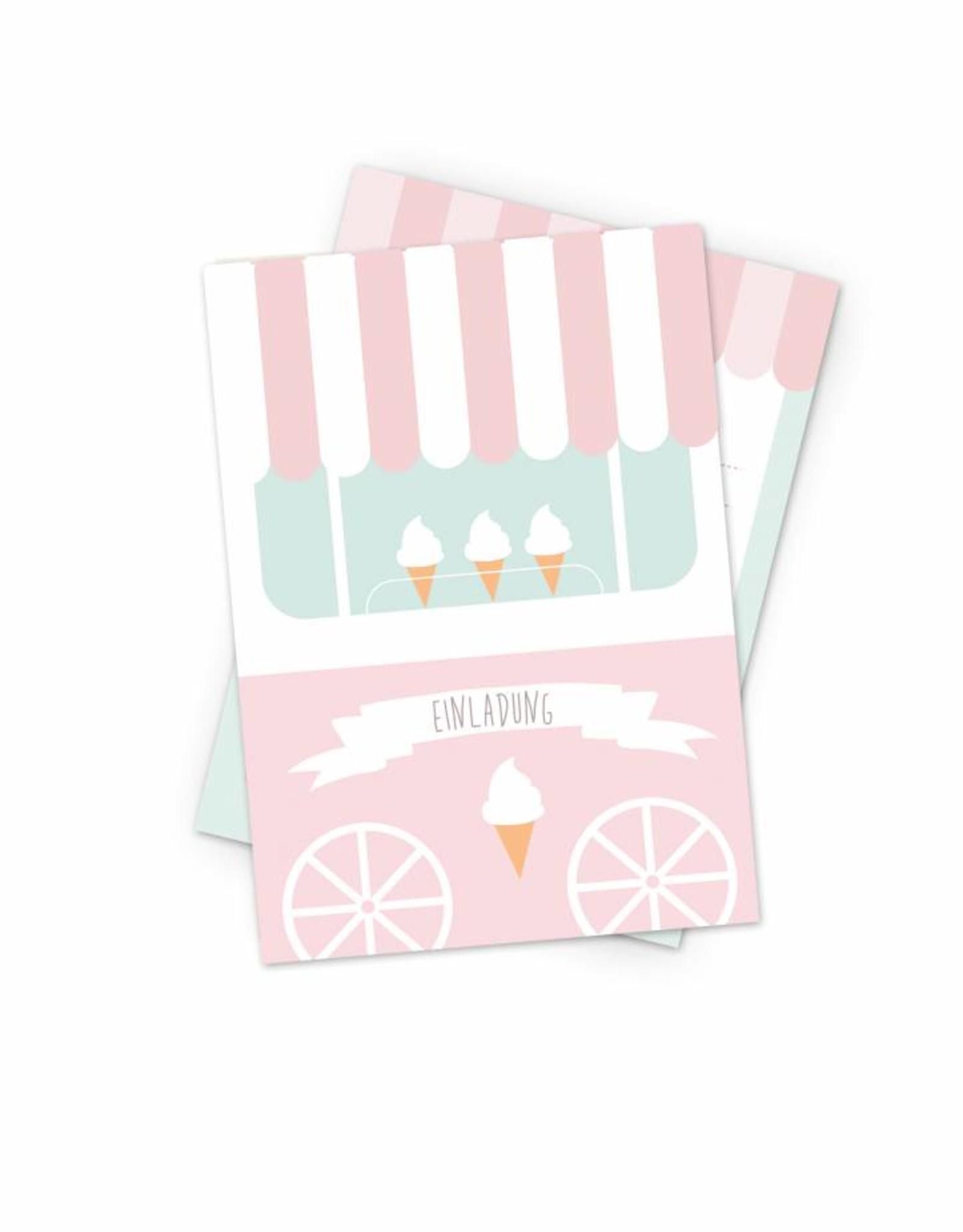 unique mimirella invitation for your next ice cream themed birthday party