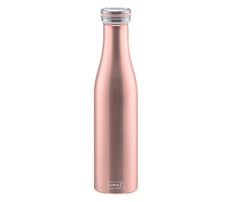lurch bouteille isotherme a double paroi rose dore 750 ml lurch