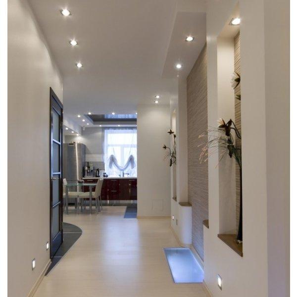 spot encastrable etanche salle de bain ip65 carre gris gu10