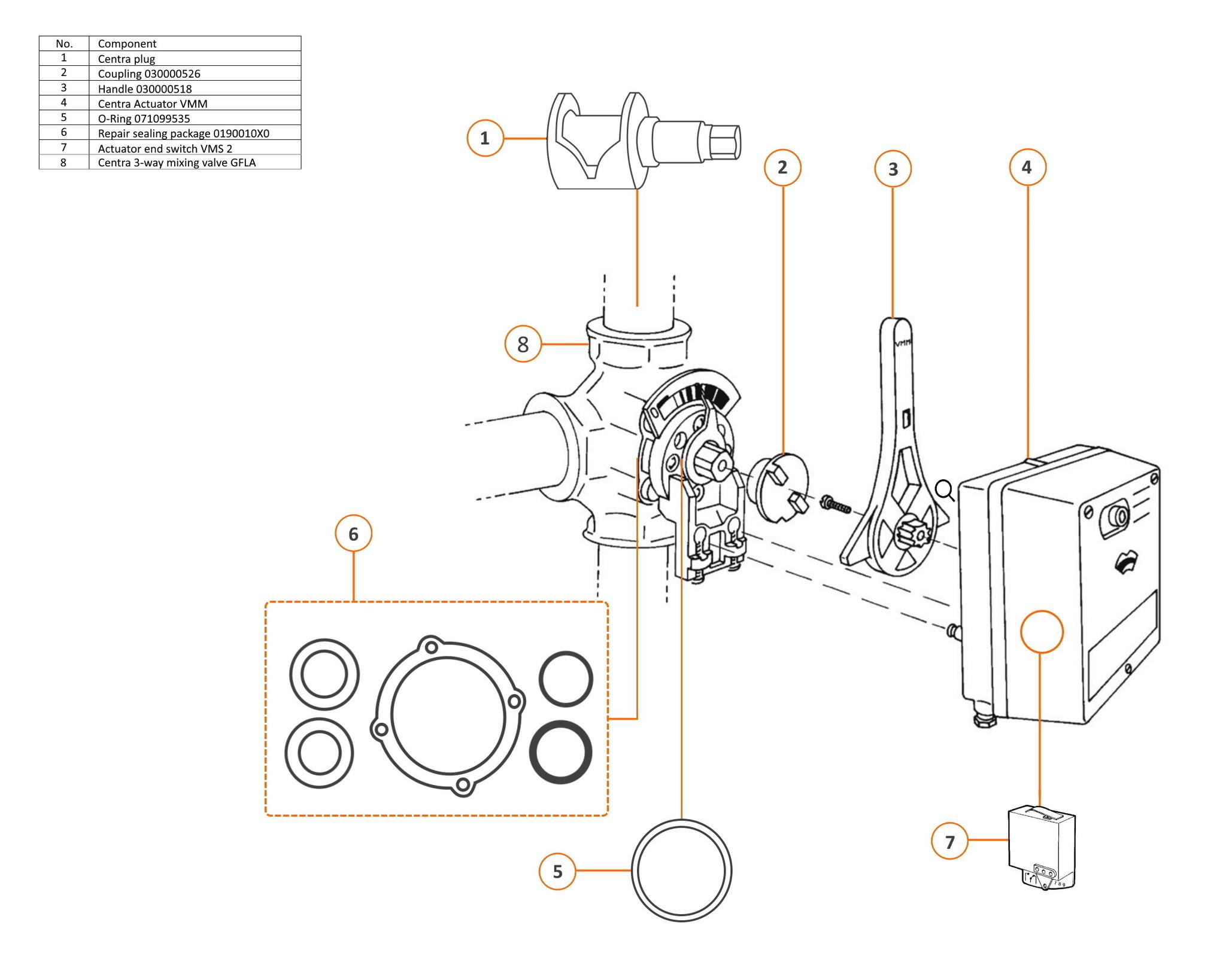 Centra 3 Way Mixing Valve Dr 25 T M 200 Gfla