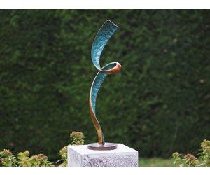 bronzart bronze statue moderne skulptur helix