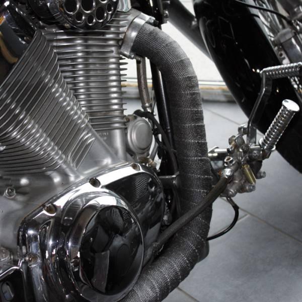 heat shieldings grey exhaust wrap 5cm x 15m max 600 c