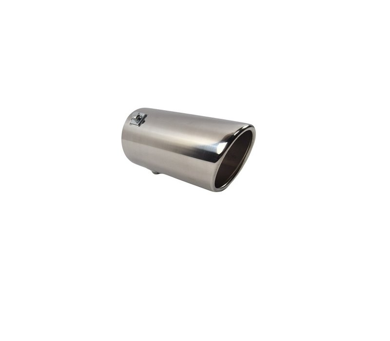 oem line universal sport look exhaust tips 76mm chrome round oblique