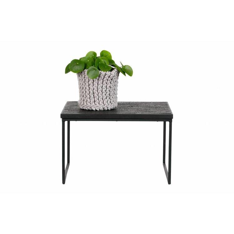 bepurehome bepurehome side table sharing square black wood metal