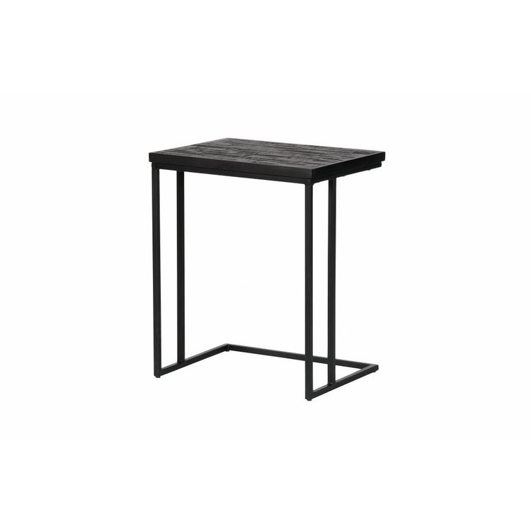 bepurehome bepurehome side table sharing u shape black wood metal