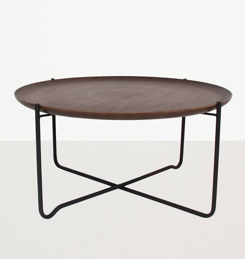 urban nature culture coffee table with serving tray metal wood