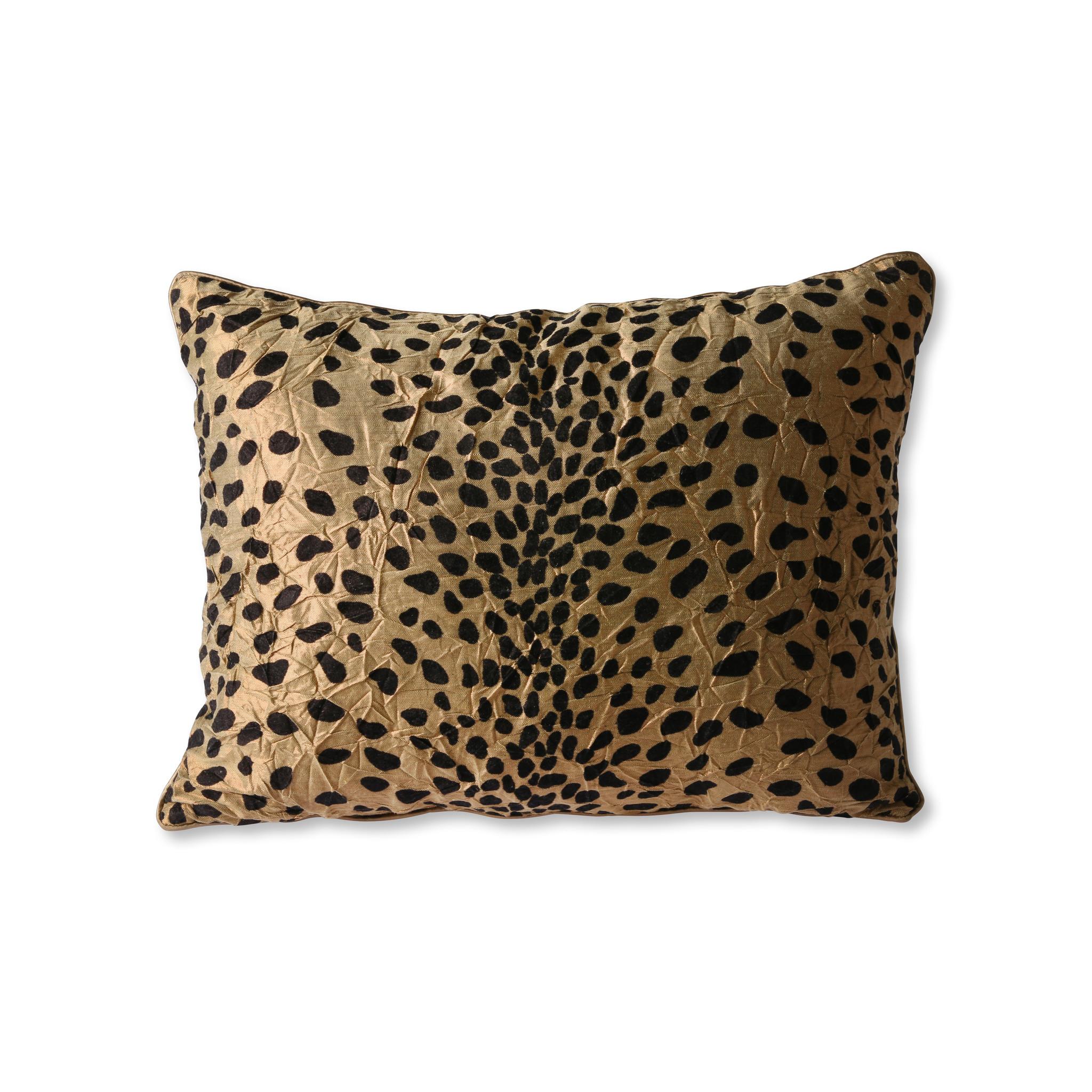 doris for hkliving cushion flock print panther