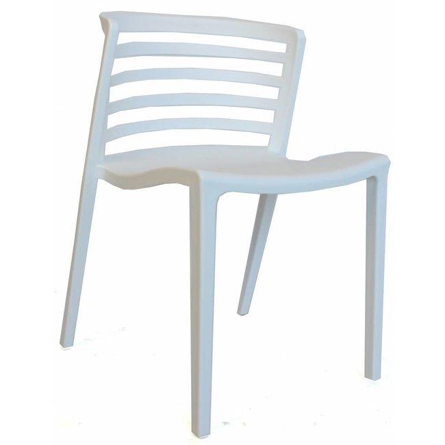 dimehouse norrie chaise de jardin blanc moderne plastique