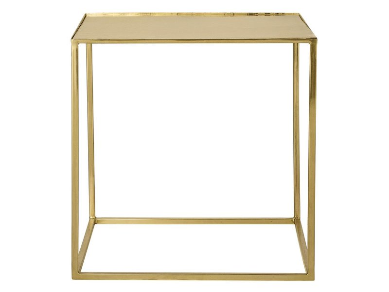 coffee table square brass