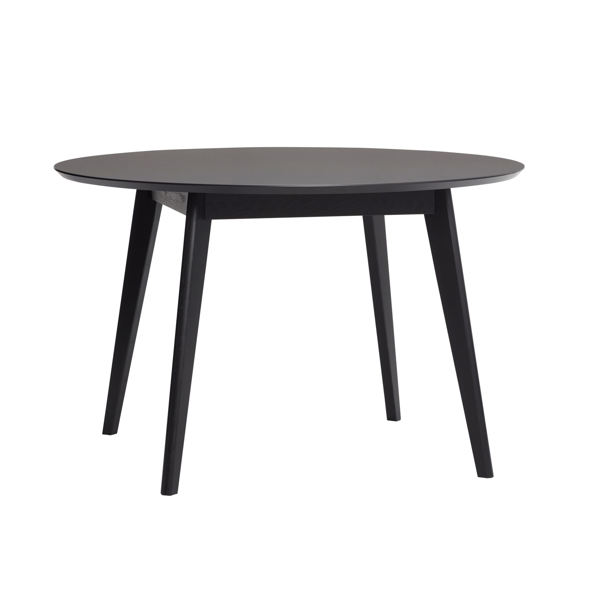 Hubsch Round Dining Table Wood Black Living And Co