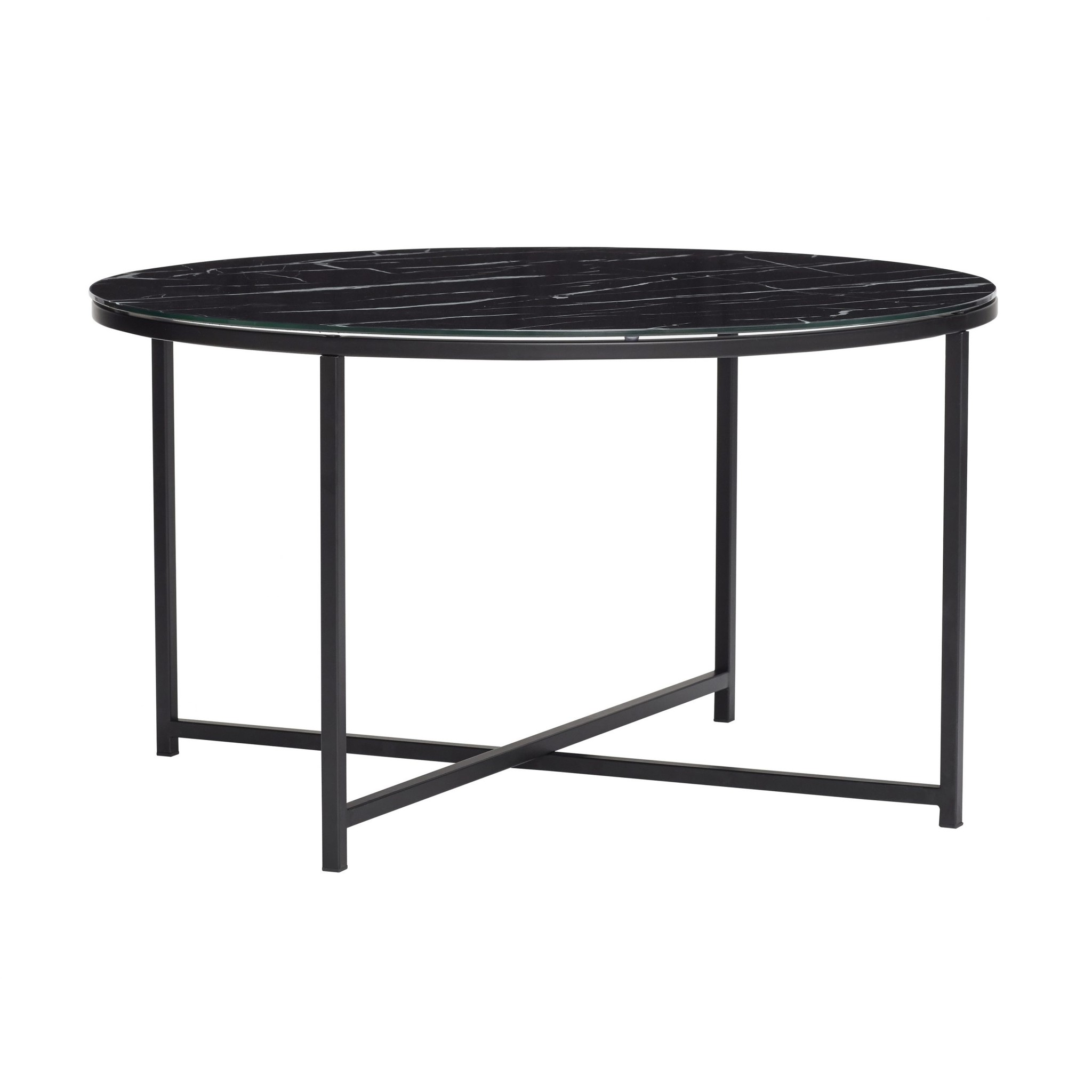 hubsch coffee table metal glass marble black