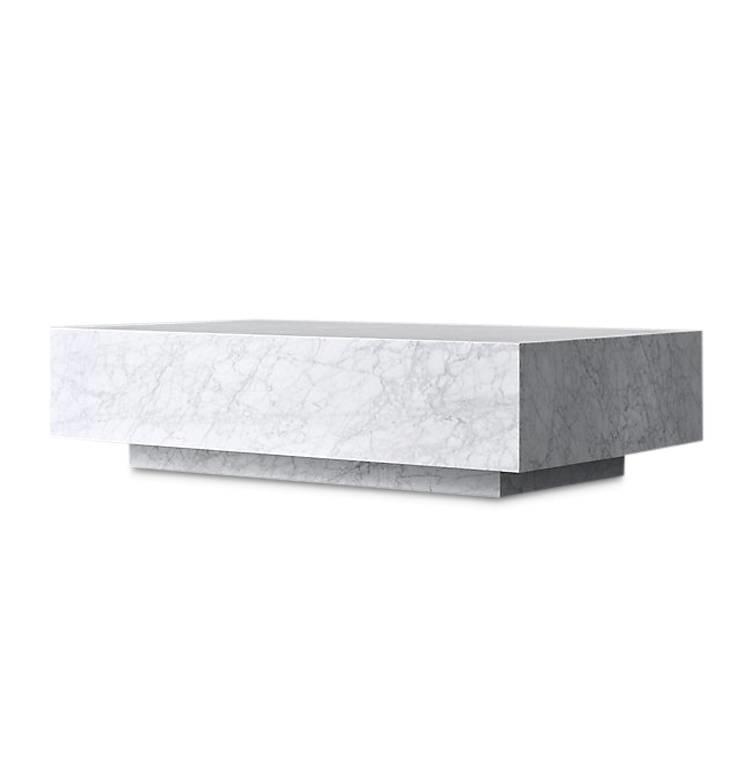 pieno carrara coffee table white square
