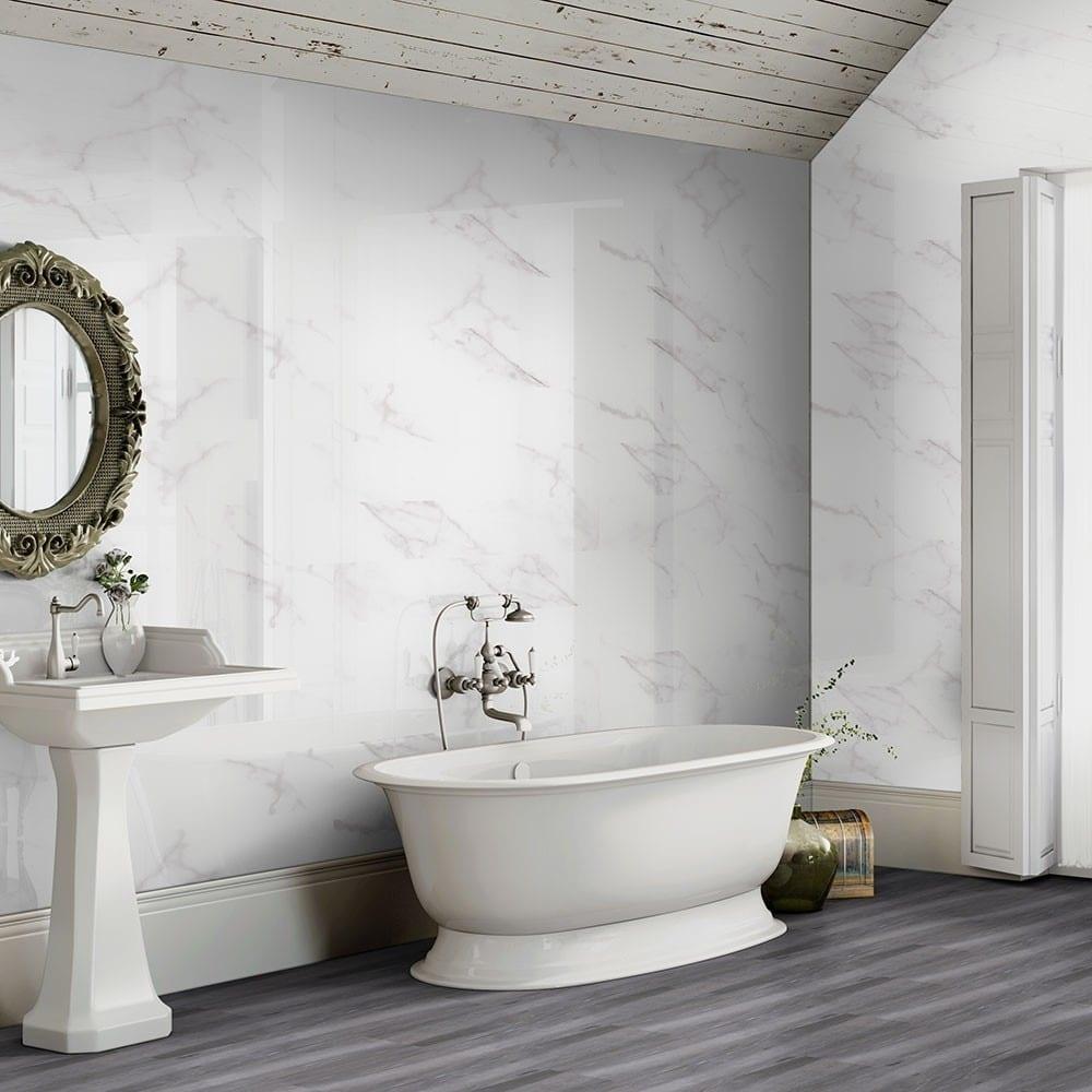 luxury tiles calacatta marble effect 60x30 gloss tiles