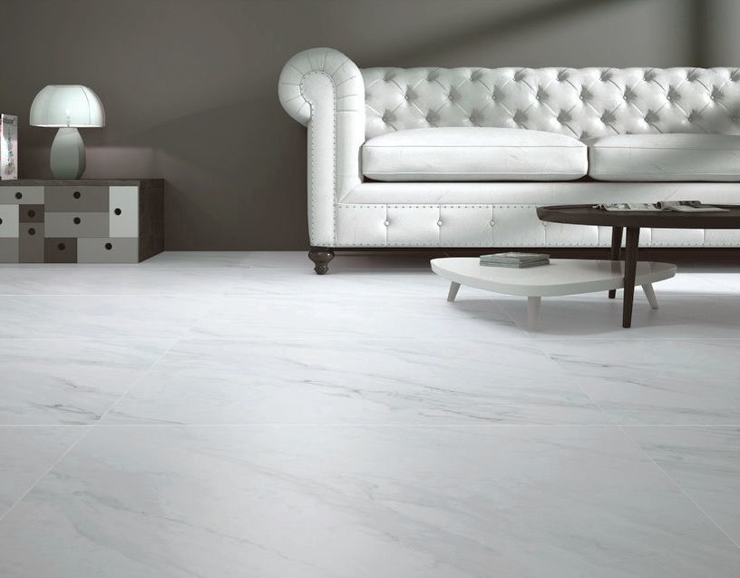 luxury tiles calacatta blanco marble effect matt porcelain tile 800x800mm