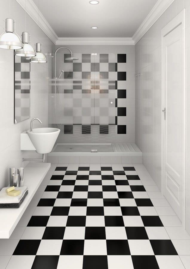 luxury tiles soho checkered square black and white floor tiles 316 x 316 mm