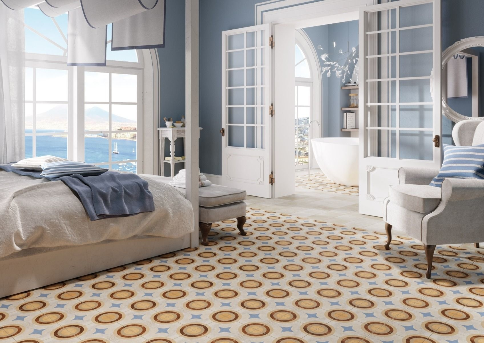 Cornwall Geometric Pattern Wall And Floor Porcelain Tile Luxury Tiles