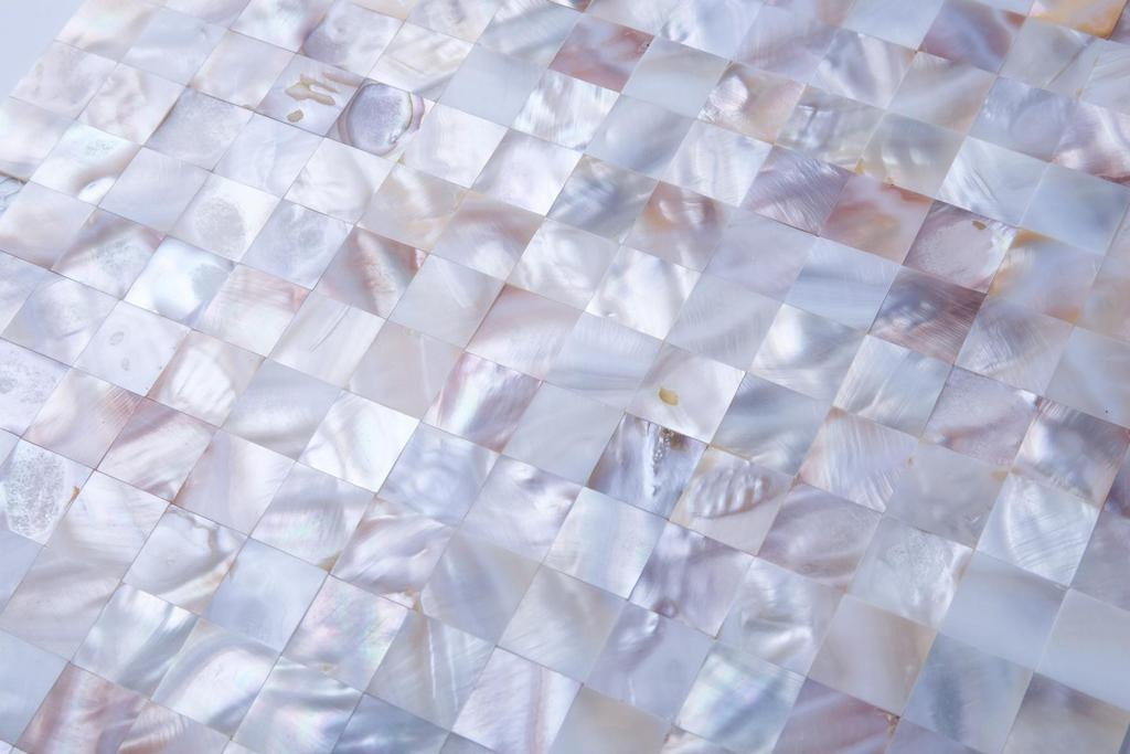luxury tiles mother of pearl oyster white mosaic 304x304mm tile