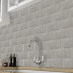 Bevelled Grey Marble Effect Metro Tile 20x10cm Luxury Tiles