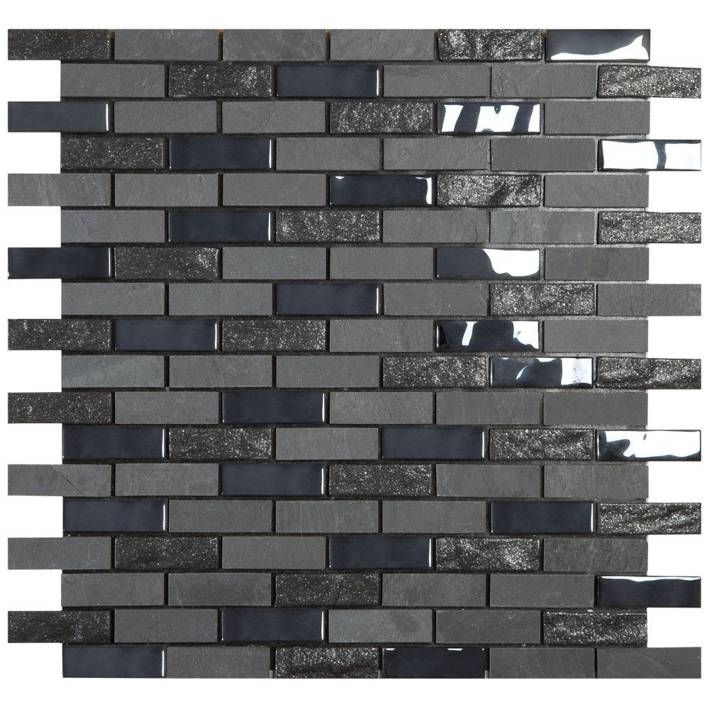 luxury tiles black brick marble mosaic tiles 30x30cm peel stick