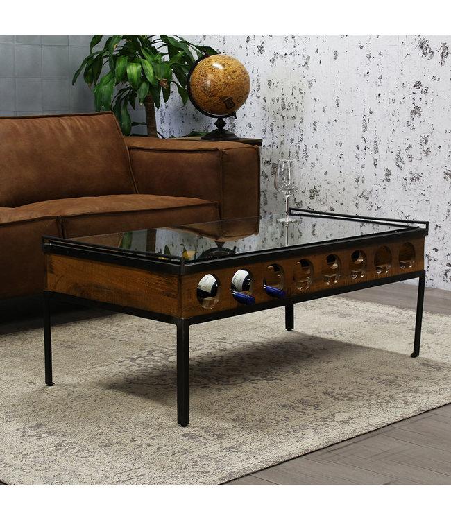 table basse bois massif industriel matthieu