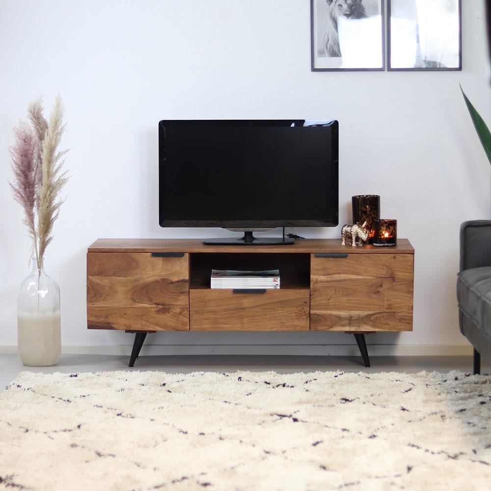 bronx71 tv lowboard robinia akazie 135 cm
