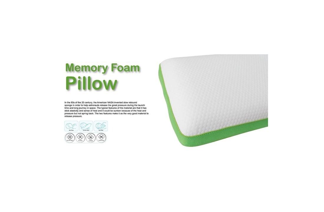 memory foam pillow side back sleeping 60x40x14cm